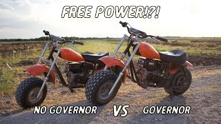 Download Governor Vs No-Governor Shootout On 2 Identical Mini Bikes! | Is It Worth It! Video