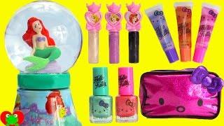 Download Disney Princess Ariel Bubble Bath Glitter Globe Nail Polish and Lip Balms Video
