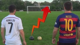 Download Cristiano Ronaldo vs. Messi - Crossbar Challenge | In Real Life! Video