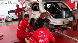 Download WRC 73 Rally Poland 2016 - 30 min Service of Stephane Lefebvre damaged Citroen WRC Video
