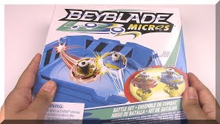 Download BABY BEYS!! Beyblade Micros Battle Set Unboxing & Review Video