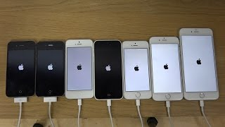 Download iPhone 6 Plus vs. 6 vs. 5S vs. 5C vs. 5 vs. 4S vs. 4 - Which Is Faster? (4K) Video