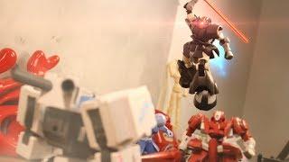 Download 【定格模玩】Gundam Stop Motion - Violent mech VS Zaku Legion ! Video