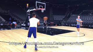Download Steph Curry and Kevin Durant shooting after Golden State Warriors (5-3) practice, day before Spurs Video