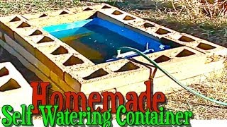 Download Homemade Large Self Watering Container Gardening with Rain Barrel for Automatic Watering Video