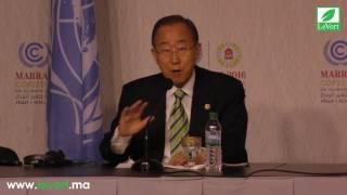 Download COP22: Ban Ki-moon Salue le Leadership du Roi Mohammed VI Video