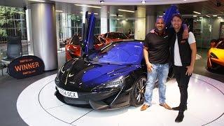 Download Winner Prash Thurairatnam collects his McLaren 540C Video