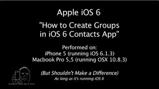Download iPhone | iOS 6 | How to Create Groups in 'iOS Contacts' Video