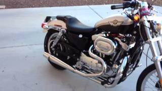 Download 2003 Sportster 1200 custom with thunder header exhaust Video