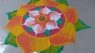 Download Easy TRICK for beautiful attractive festival rangoli design by bucketful creation Video