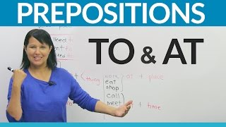 Download Learn English Prepositions: TO or AT? Video