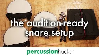 Download my 8-piece audition-ready snare drum setup Video