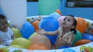 Download Balloons Pool for Kids - How Excited Kids Playing with Balloons Video