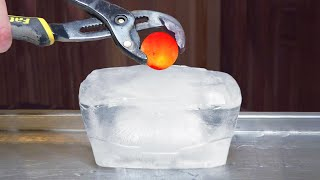 Download 1000 DEGREE METAL BALL VS ICE - EXPERIMENT Video