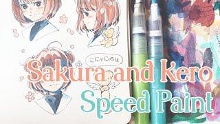Download Sakura and Kero Speed Paint Video