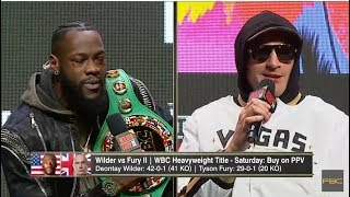 Download DEONTAY WILDER BEAT TYSON FURY AT TODAY'S PRESS CONFERENCE, DAZN CLOUT CHASIN Video