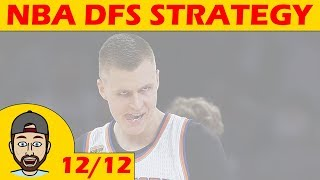 Download NBA DFS Projections & Strategy   Tuesday 12/12   FanDuel & DraftKings Video