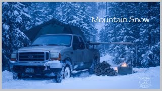 Download Snow Camping in the Mountains Video
