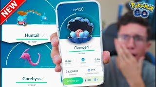 Download CLAMPERL, HUNTAIL, & GOREBYSS in Pokémon GO! HOW TO GET THEM! (New Event) Video