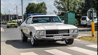 Download Muscle cars leaving a car show | 6° Summer meeting 2017 Video