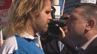 Download Right wing Canadian speakers spark heated protests in Auckland Video
