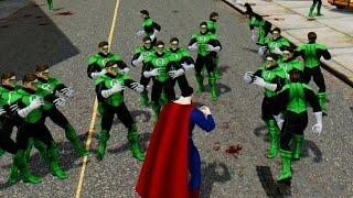 Download SUPERMAN VS GREEN LANTERN ARMY Video