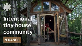Download Art of living in a Dordogne tiny mud home with living roof Video