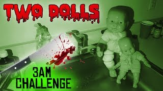 Download (GONE WRONG) 3 AM OVERNIGHT CHALLENGE 3 // ONE MAN HIDE AND SEEK WITH TWO HAUNTED BABY DOLLS! Video
