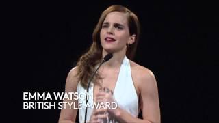 Download Emma Watson - British Style Award - British Fashion Awards 2014 Video