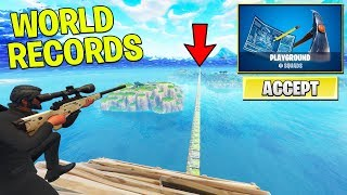 Download *NEW* PLAYGROUND WORLD RECORDS with FANS! (Fortnite PLAYGROUND MODE Gameplay) Video
