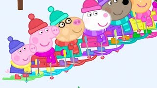 Download Peppa Pig English Episodes in 4K - Skiing with Peppa! Peppa Pig Official Video
