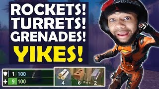 Download ROCKETS, TURRETS AND GRENADES EVERYWHERE! | VS SQUADS HIGH KILL FUNNY GAME -(Fortnite Battle Royale) Video
