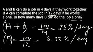 Download Time and Work shortcut trick to solve problems quickly !! Video