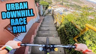 Download CRAZY URBAN MTB DOWNHILL TRACK - FULL RACE RUN! Video