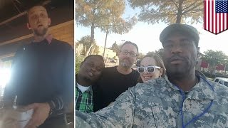 Download Racism at Chili's: Black veteran has free meal revoked after Trump supporter complaint - TomoNews Video