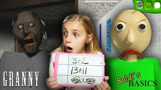 Download Baldi's Basics at Granny's Homeschool! | Granny Horror Game and Baldi's Basics in REAL LIFE COMBINED Video