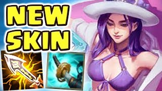 Download *NEW* POOL PARTY CAITLYN JUNGLE (34 kilIs) SPOTLIGHT | 100% CRIT | THE MOST BEAUTIFUL SKIN EVER Video