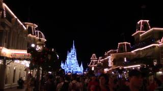 Download Cinderella Castle & Main Street U.S.A. Christmas Decor 2016 (Nighttime) - The Magic Kingdom Video