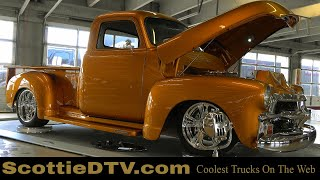 Download 1954 Chevrolet Pickup Muscle Truck ″Liquid Gold″ 2019 Summit Racing Equipment Atlanta Motorama Video