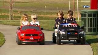 Download Power Wheels Race Police Charger vs Mustang Video