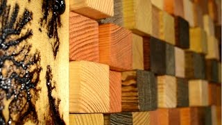 Download Reclaimed wood 3D wall panel Video