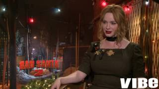 Download Christina Hendricks Shares Awkward Moments And Playing Diane In Bad Santa 2 Video