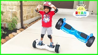 Download HOVERBOARD CHALLENGE!!! Halo Rover Family Fun Playtime with Ryan ToysReview Video
