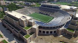 Download Notre Dame Football Stadium Construction update 7/23/17 Video
