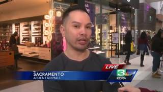 Download Black Friday shoppers hunt for deals at Arden Fair Mall Video