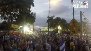 Download Exilio de Miami despide a Fidel Castro al grito de ″libertad ahora″ Video
