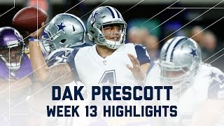Download Dak Prescott's Gritty Performance! | Cowboys vs. Vikings | NFL Week 13 Player Highlights Video
