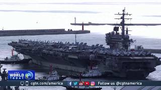 Download USS Ronald Reagan docks in Busan as show of force against DPRK Video