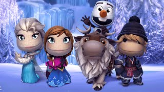 Download LittleBigPlanet 3 - Disney FROZEN Costumes Showcase - Anna Elsa Olaf Kristoff and Sven Video