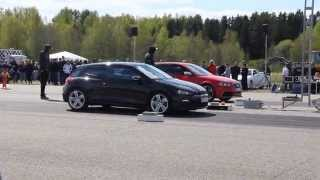 Download Audi RS3 vs VW Scirocco R Dragrace 1/4 mile (pure sound) Video
